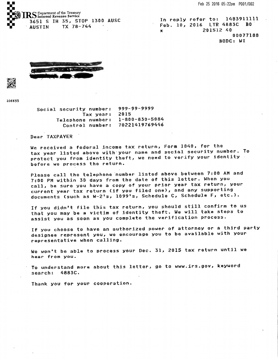 New irs snail mail scam for Letter to the irs template